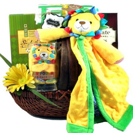 Safari Surprise Baby Gift Basket