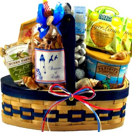 Sail Away, Nautical Gift Basket
