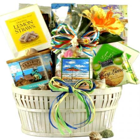 seaside summer gift basket
