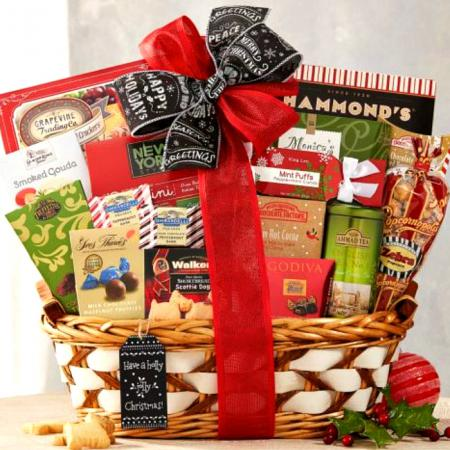 seasons greetings holiday gift basket