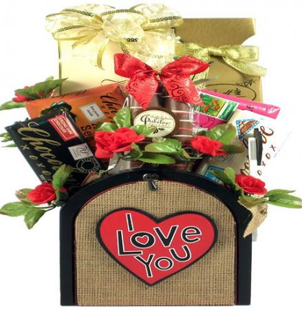 Sending You My Love, Romantic Gift Basket