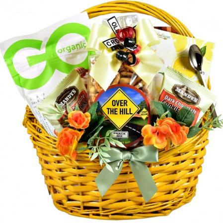 senior birthday gift basket