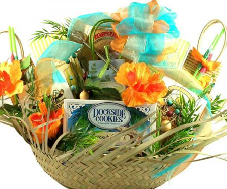 It's Five O'Clock Somewhere, Beach Lover Gift Basket