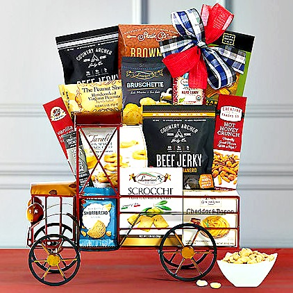 delivery-truck-snacks-gift-basket