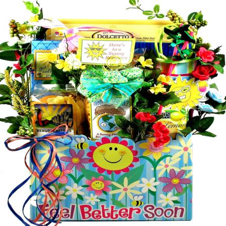 sunny days ahead get well gift box