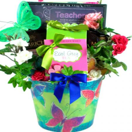 Teacher's Plaque Gift  Basket