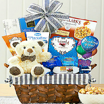 Thinking Of You Teddy Bear Hug, Gift Basket