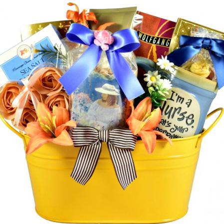 thank you gift basket for a nurse