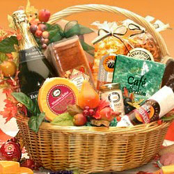 Thanksgiving Gift Basket with Sparkling Cider