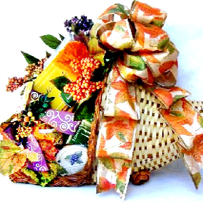 Thanksgiving Horn of Plenty gift basket