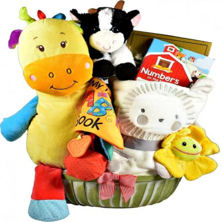 The Cow Says, Baby Girl Gift Basket