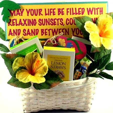 At The Beach, Deluxe Tropical Gift Basket