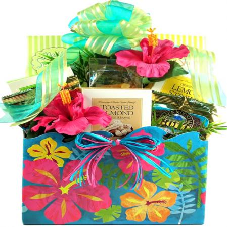tropical flowers gift baskets