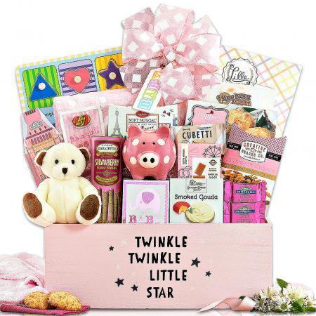 twinkle little star baby girl gift baskets