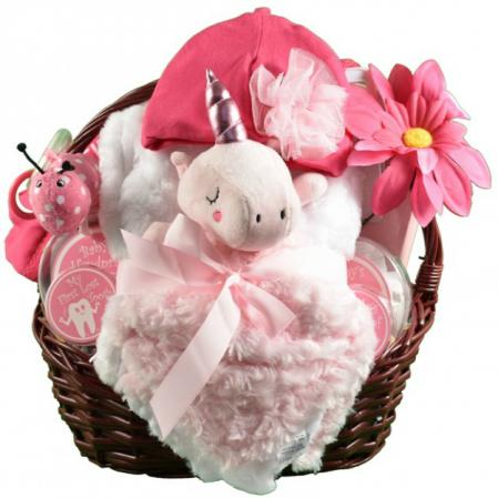 Unicorn Baby Girl Gift Baskets