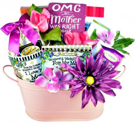 fun gift basket for a wacky mom