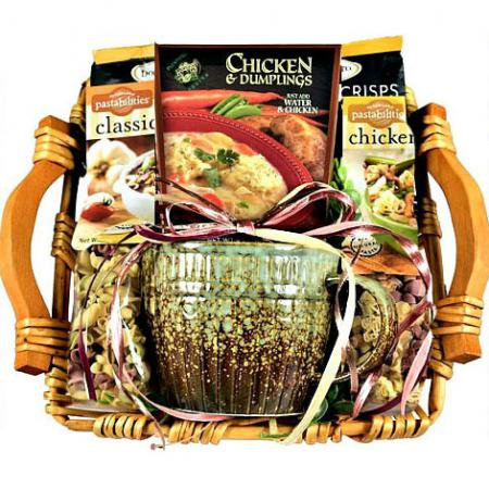 Gift Basket Filled With Warm and Cozy Comfort Foods