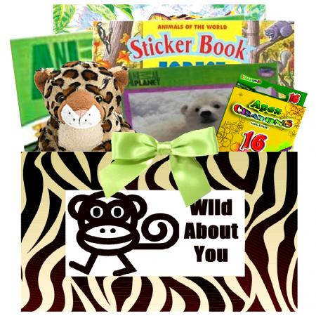 Wild About You Jungle Theme Gift Basket For Kids