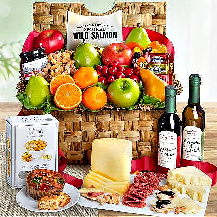 ultimate fruit and gourmet gift basket