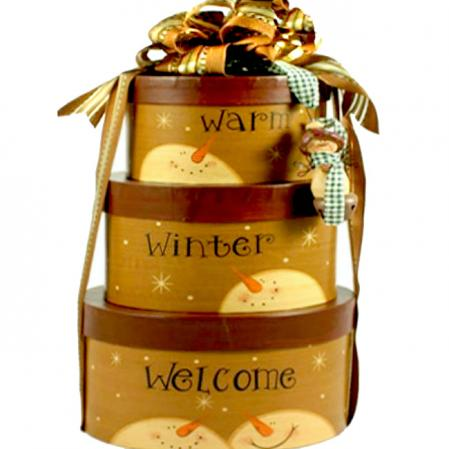 Warmest Winter Welcome Holiday Gift Tower