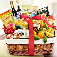 FRESH FRUIT AND GOURMET GIFT BASKET