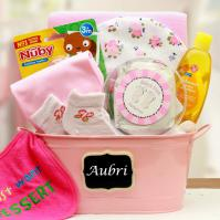 Baby  Basics Baby Girl Gift Basket