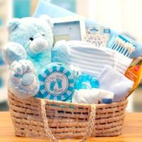 Blue Baby Boy Carrier Gift Basket