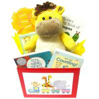 Baby Gift for Newborns, Busy Baby Gift Box with Books and Giraffe