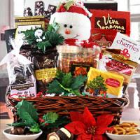 Frosty Snowman Holiday Gift Basket