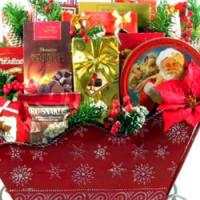 Old Fashioned Christmas Sleigh Gift Basket