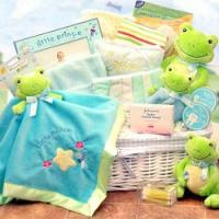 Froggy Themed Baby Gift Basket