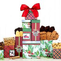 Holiday Cookie Gift Tower For Christmas