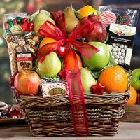 Christmas Fruit and Sweets Basket