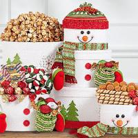 Holiday Snowman Gift Tower