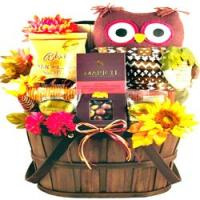 Unique Fall Gift Basket Featuring a Hoot Owl