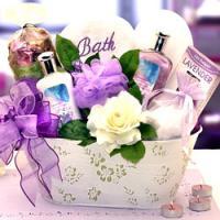 lavender bath basket