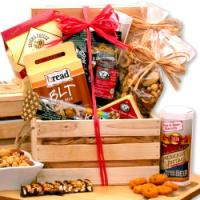 Premium Nuts and Snacks Gift Crate