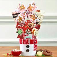 snowman holiday gift basket