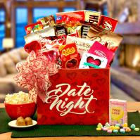 date night gift basket for lovers