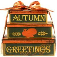 Autumn Greetings Fall Gift Tower