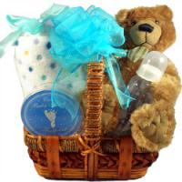 New Baby Teddy Bear Gift Basket
