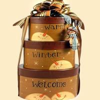 Winter Wishes Holiday Gift Tower