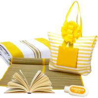 Book Lover's Beach Bag Gift Basket
