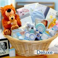 Baby gift basket ideas new baby gifts baby shower gifts deluxe new baby boy gift basket negle Gallery