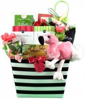 flamingo-tropical-gift-basket