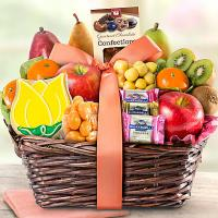 sweets and fresh fruit basket