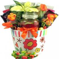 Tea and Fruit Candy Gift Basket