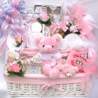 Pampered Baby, Luxury Gift Basket For New Baby