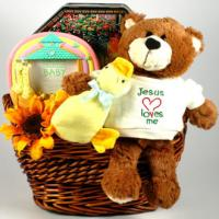 Jesus Loves Me Baby Gift Basket