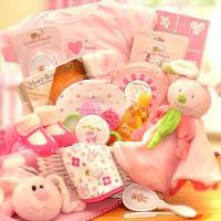 Hunny Bunny Baby Girl Gift Basket